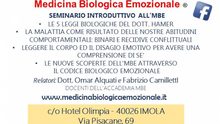 """""""Dalle leggi di Hamer alla Medicina Biologica Emozionale"""""""