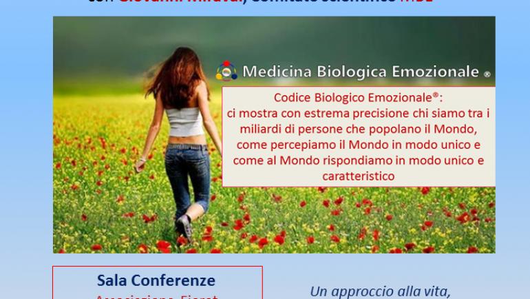 18 maggio a San Fior (TV) L'innovazione della Medicina Biologica Emozionale con il Codice Biologico Emozionale