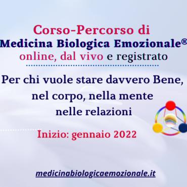 Nuovo Corso-Percorso Medicina Biologica Emozionale online e in presenza, 2022